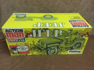 VINTAGE ACTION MAN - TRANSPORT COMMAND JEEP - BOXED NEW OLD STOCK